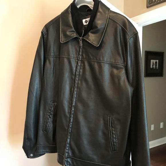 d04f496f1b819 Columbia Jackets & Coats | Mens Large Leather Jacket Black | Poshmark